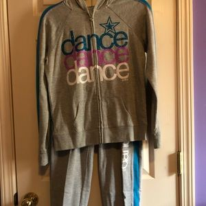 It's a justice dance sweat set